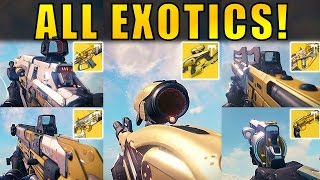 Destiny: ALL VAULT OF GLASS EXOTICS! | Age of Triumph