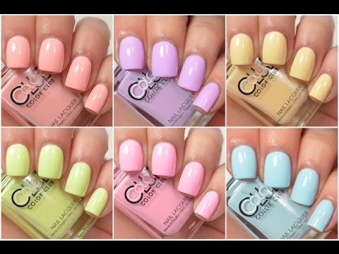 Color Club - Poptastic Pastel Neon | Swatch and Review - YouTube