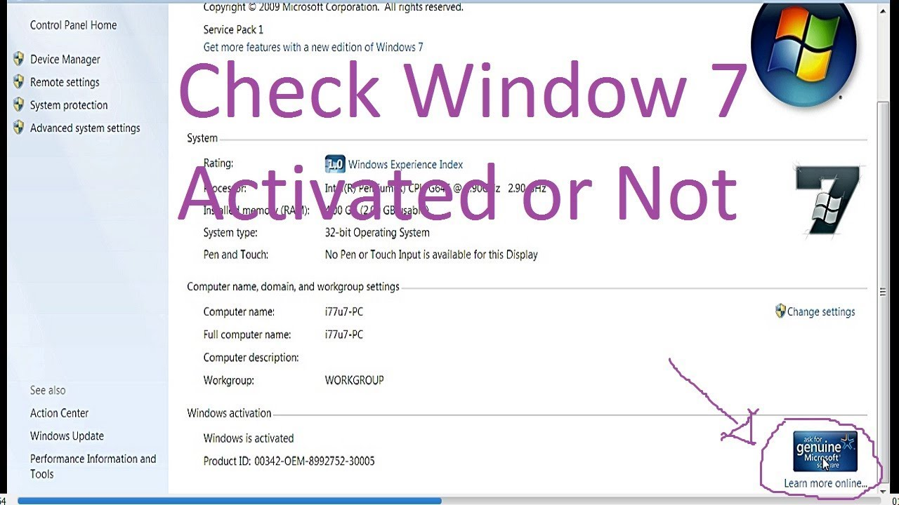 Windows Genuine Check