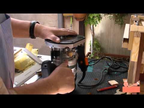 Escopleadora o mortajadora casera con fresadora vertical