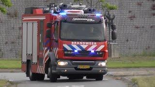 Brandweer Mijnsherenlaan 17-3431 AL441 met spoed naar een afhijsing in Barendrecht + spoedretour