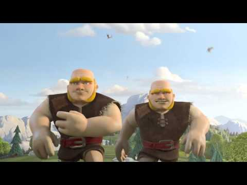 Clash of clans   Giant Troop T.V.  Commercial !