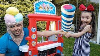 Öykü Pretend Play With Ice cream Sweet House, Fun Kid Video