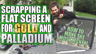 Scrapping A Flatscreen TV - How To Make Money From A Scrap TV!