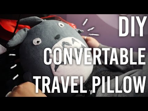 How to Make Convertible Travel Pillow - Totoro Edition! - DIY - YouTube & How to Make Convertible Travel Pillow - Totoro Edition! - DIY ... pillowsntoast.com