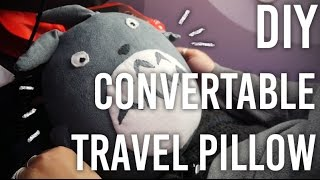 How to Make Convertible Travel Pillow - Totoro Edition! - DIY