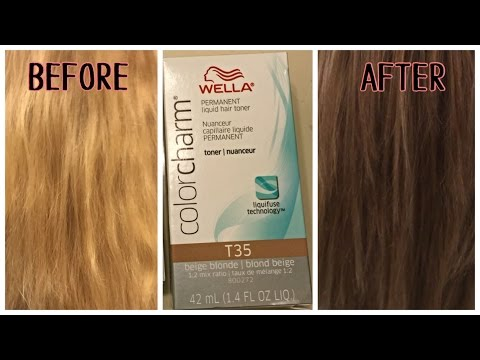 Wella T35 Toner On Bleached Hair Youtube