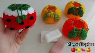 Kolay lif modelleri / örgü amigurumi meyveler / crochet mini basket pattern / easy crochet fruits