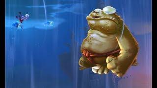 Rayman Legends Картинка когда у жаб вырастают крылья, бьём боса бронированную жабу