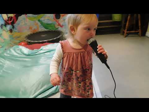 Cute Toddler Singing Karaoke