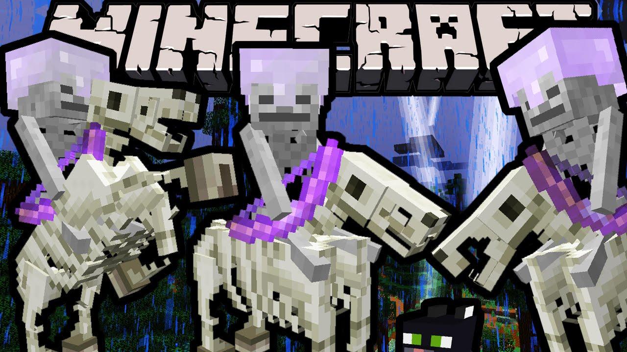 Minecraft 19 Snapshot Spooky Skeleton Horsemen Trap