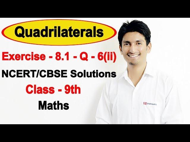 Chapter 8 Exercise 8.1 Question 6(ii) - Quadrilaterals Class 9 Maths - NCERT Solutions