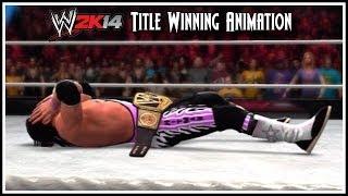 "WWE 2K14 - Bret ""The Hitman"" Hart Title Winning Animation!"