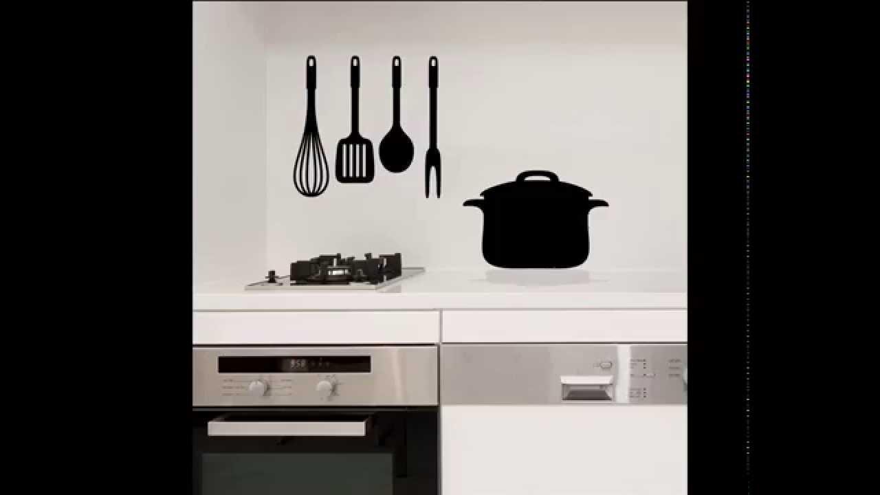 Vinilos decorativos para cocina youtube - Papel para paredes de cocina ...