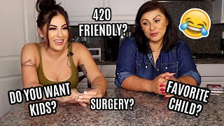 ANSWERING RANDOM QUESTIONS W MY MOM LOL | Mother Daughter Q&A