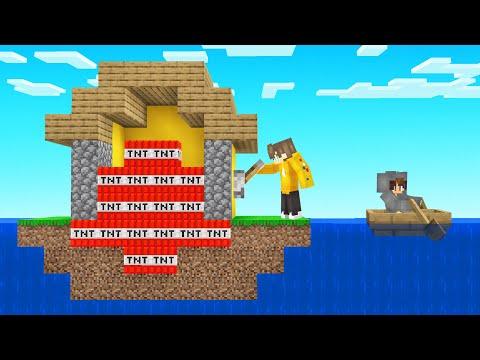 I TROLLED My Friends Island With TNT! (Minecraft)