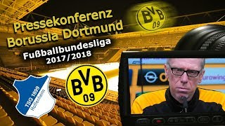 TSG 1899 Hoffenheim - Borussia Dortmund: PK mit Peter Stöger