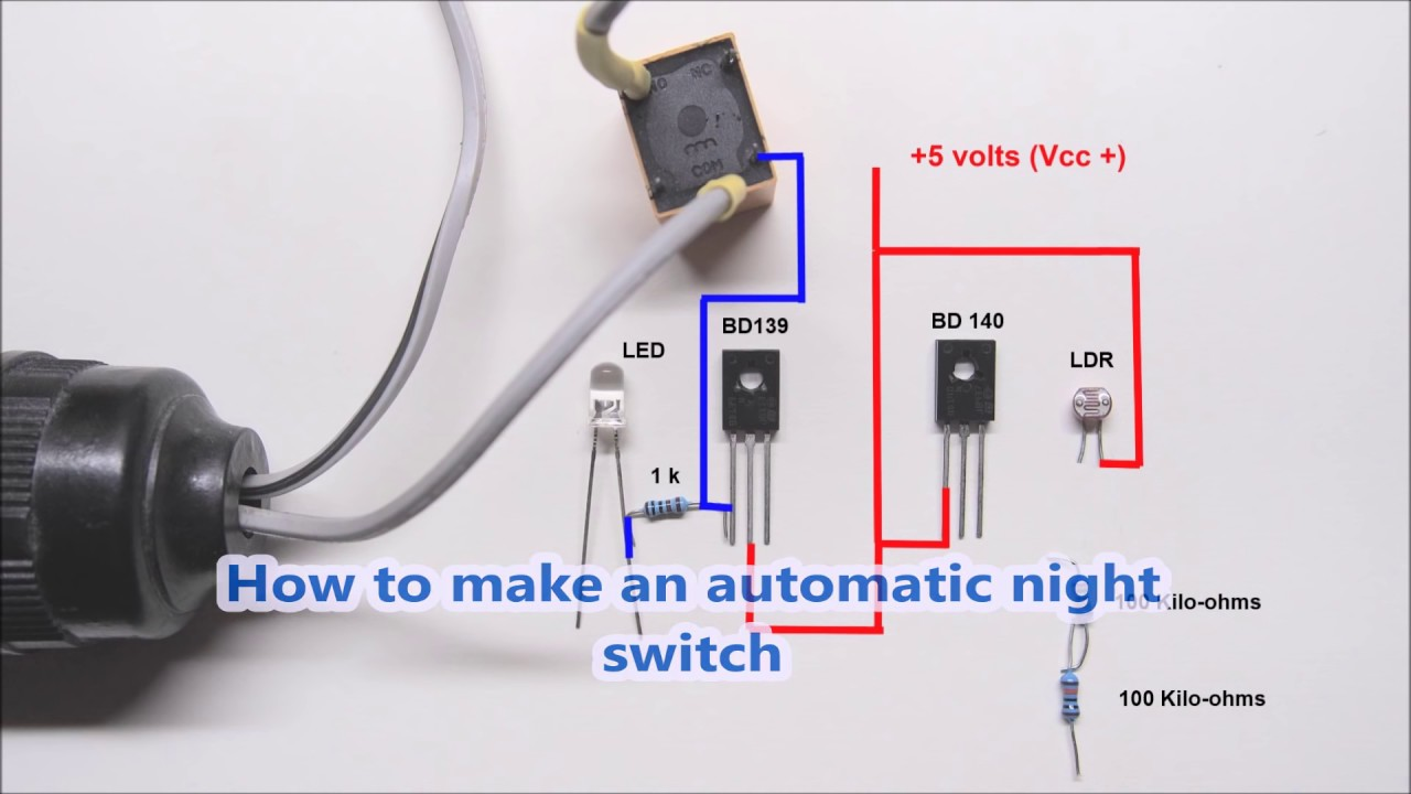 How To Make An Automatic Night Light Switch Youtube