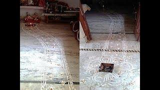 How To Make Ethnic Rangoli with Rice Flour - Make Kanhaji's Footprint - Shyam Diwani