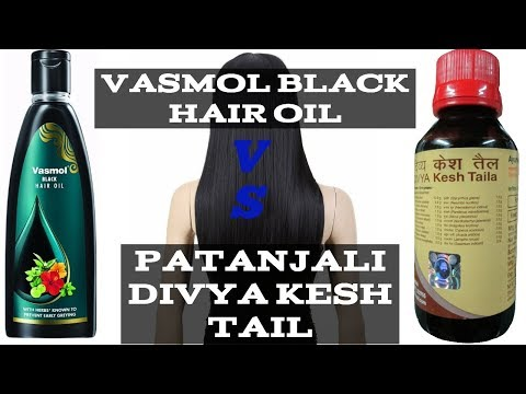 Comparison of Vasmol Black Hair Oil VS Patanjali Divya Kesh Tail.
