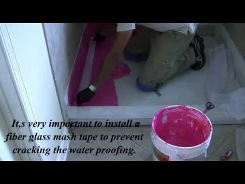 How to apply RedGard Waterproof in a shower floor!!!!