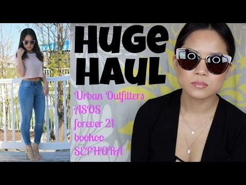 WORLD'S BIGGEST HAUL!! | Clothing + Makeup + Quay Sunglasses
