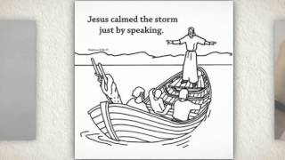 Jesus Calms the Storm Craft Craft Card for Children