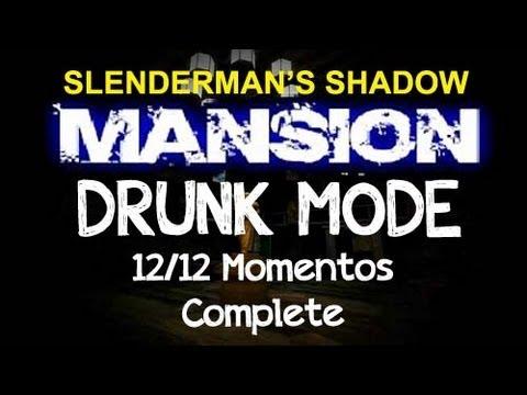 Slender Mansion V1.1 - Drunk Mode Ending Complete 12/12 Mementos (Slenderman's Shadow Map 4)