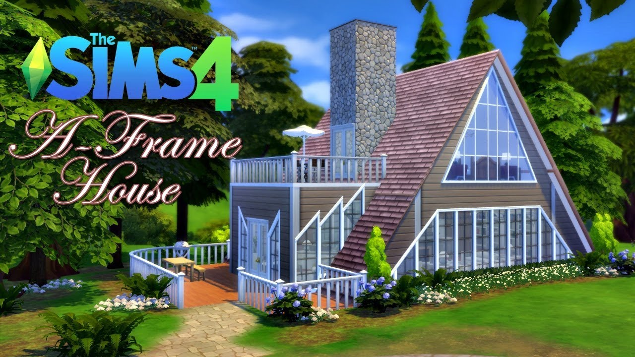 A frame house the sims 4 speed build youtube - Make a house a home ...
