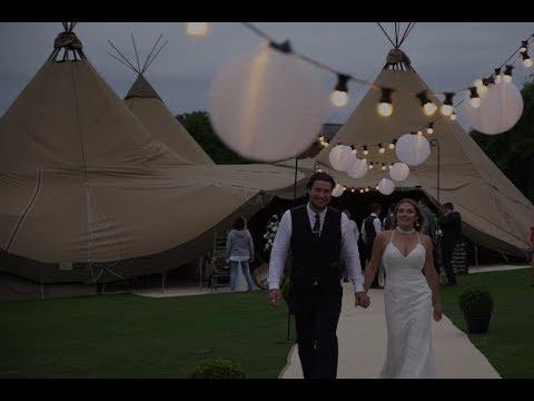 Will & Stephanie Tepee/Festival Wedding Highlights