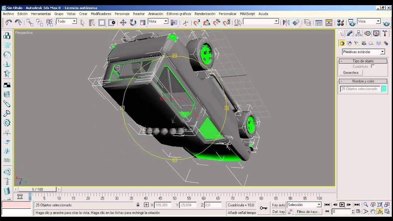 Tutorial 3d studio max como descargar plantillas youtube for Sillas para 3d max
