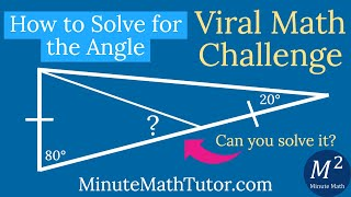 How to Solve for the Angle | Viral Math Challenge | Minute Math