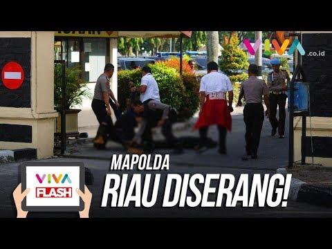 Video Amatir Suasana Pasca Penyerangan di Mapolda Riau