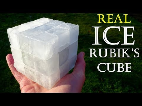 Rubik's Cube made from real ICE !! (fully functional puzzle by Tony Fisher)
