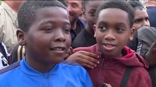Val-d'Oise : Presnel Kimpembe de retour à Eragny pour présenter la Coupe du monde