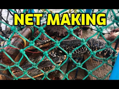 How To Make A Fishing Net - How To Tie And Repair A Basic Net For Fishing