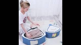 프레임 코너수납함 투명창 다용도 수납정리함 리빙박스 옷…
