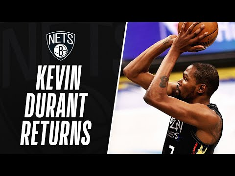 KD POSTS 17 PTS IN HIS RETURN TO ACTION!
