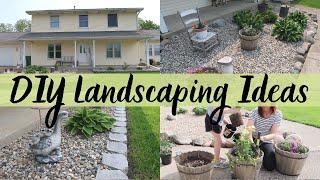 Gambar cover DIY LANDSCAPING IDEAS | MINIMALIST LANDSCAPING | LANDSCAPING ON A BUDGET | MONEY SAVING TIPS
