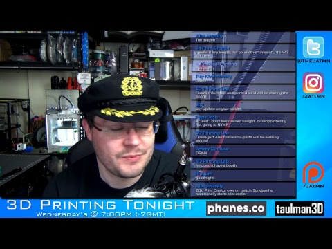 📺 3D Printing Tonight #043 w/#CaptainBAWLS - World Maker Faire & Sad news?!