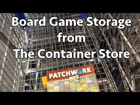 Board Game Storage - Container Store || Board Game VLOG