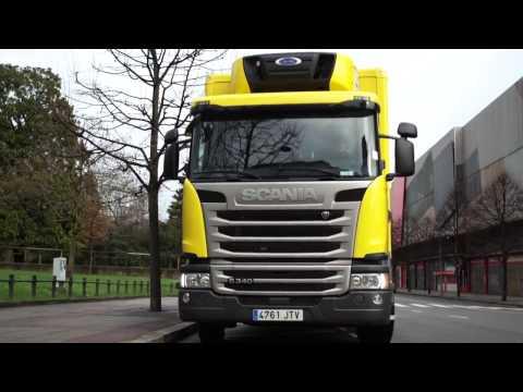 Scania ofrece soluciones de transporte sostenible a Alimerka