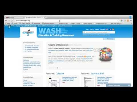 Household Water Treatment and Safe Storage Webinar - CAWST