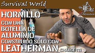 Hornillo con botella de aluminio - Leatherman charge Tti