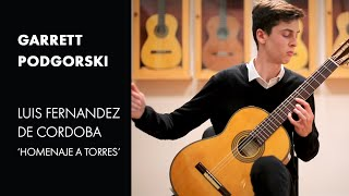 Bach: Prelude from Cello Suite No. 1 played by Garrett Podgorski on a 2019 Luis Fernandez de Cordoba