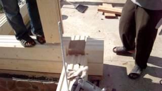 Эксклюзив-строй. Монтаж дома из клееного бруса(, 2013-06-05T05:40:15.000Z)