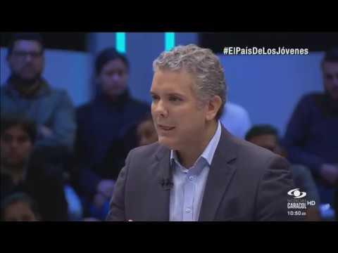 Iván Duque le contesta al País de los jóvenes en Noticias Caracol