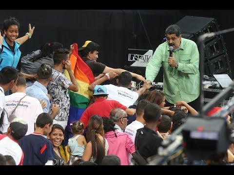 Acto en el Poliedro con Nicolás Maduro apoyado por 15 mil jóvenes para su candidatura presidencial
