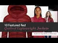 10 Featured Red Quilted Lightweight Jackets Special Jackets Collection