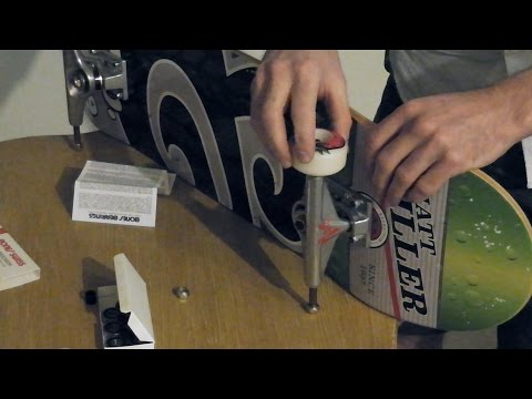 2 Requests in 1 -  Skateboard Setup/Putting on Wheels and Bearings **asmr**
